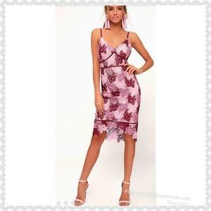 "NEW - Lulu's ""Endless Elegance"" Crochet Dress"